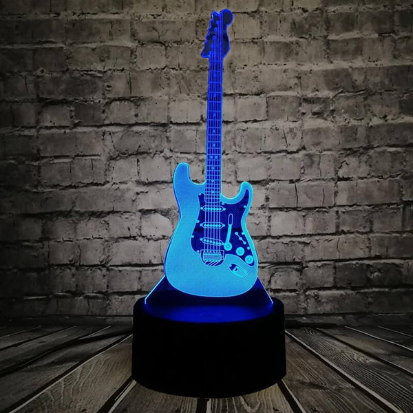 Veilleuse led en forme de guitare