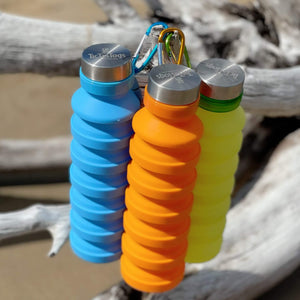silicone-water-bottles-blue-orange-lime