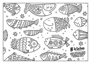 Fancy Fish | Colouring-in