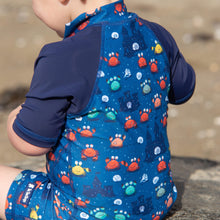 Load image into Gallery viewer, Short sleeve Sunsuit | Comic Crab