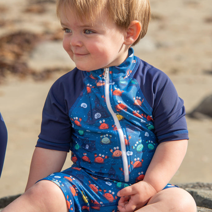 Short sleeve Sunsuit 'Comic Crab'