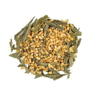 Flow low caffeine loose leaf tea rice tea green tea popcorn-green weight loss