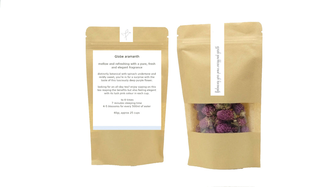 flow caffeine free loose leaf tea Globe aramanth herbal flower tea