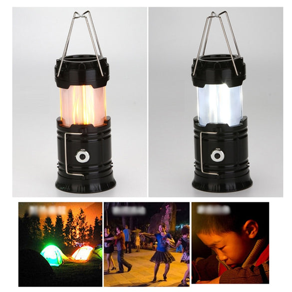 Portable LED Lantern Camping Light 2 Colors Ultra Bright Hand Emergency Lamp Outdoor Lanterna Tent Lights Flashlight Use 3*AAA