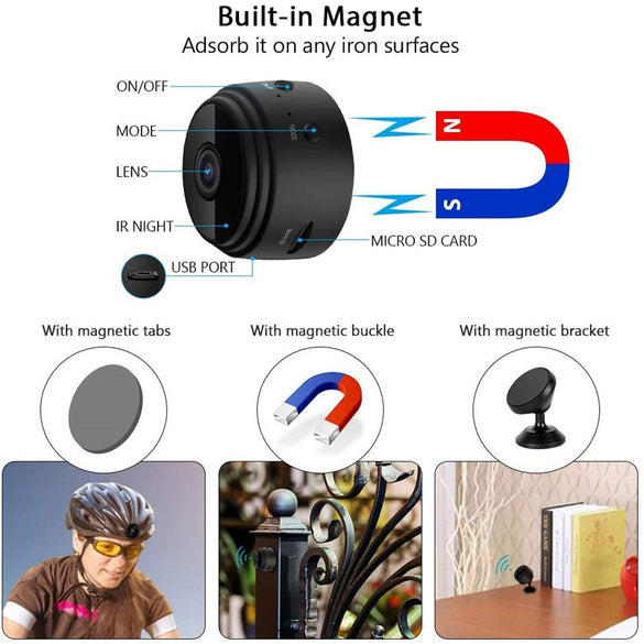 A9 1080P Wifi Mini Camera, Home Security P2P Camera WiFi, Night Vision Wireless Surveillance Camera, Remote Monitor Phone App