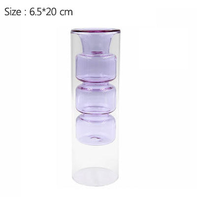 Double Layer Glass Flower Vase