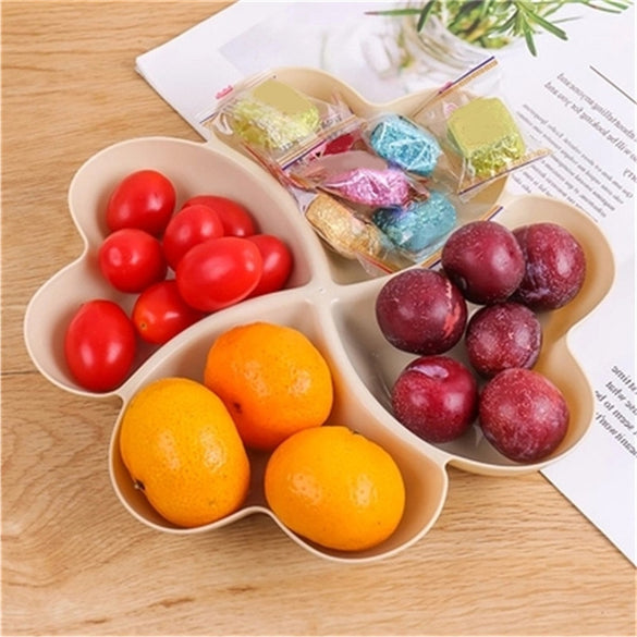 VOGVIGO Heart Shaped Fruit Platter Creative Plates Storage Box Dried Fruit Snack Plates Divided Candy Dessert Plate Container