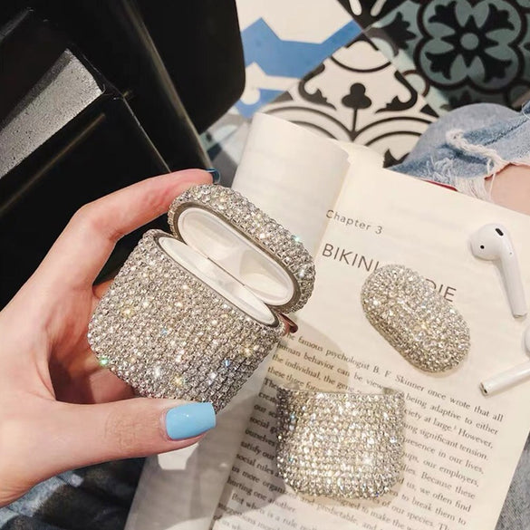 Luxury Earphone Cases For Apple AirPods Pro 2 1 Cute Case For AirPod Air Pods Pro 2 3 Bling Diamond Hard Shell Protective Cover