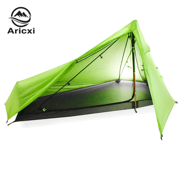 light weight 1 Person Oudoor Ultralight Camping Tent 3 Season Professional 20D Silnylon Rodless Tent