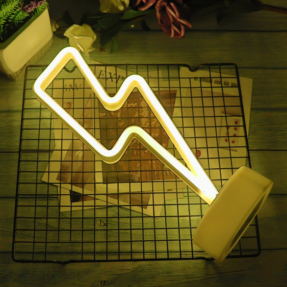 Decorative LED Neon Light Sign Star Moon Lamp USB LED Night Lights Decoration for Home Wedding Party Gifts Neon Lamp with Base