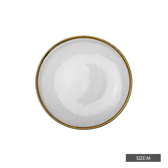 Gold Rim Glass Dinner Plates