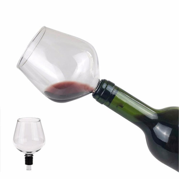 Drinking Directly from Bottle Clear Wine Glass Goblet Champagne Cup Barware Wine Easy To Clean For Home Office Kitchen Outdoors