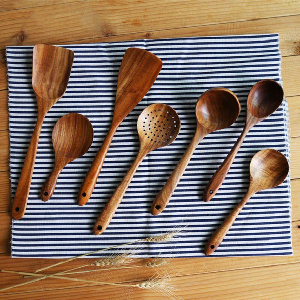 Hot Sale Lot Wooden Spoon Bamboo Kitchen Cooking Utensil Tool Soup Teaspoon Catering Kids Spoon kitchenware for Rice Soup