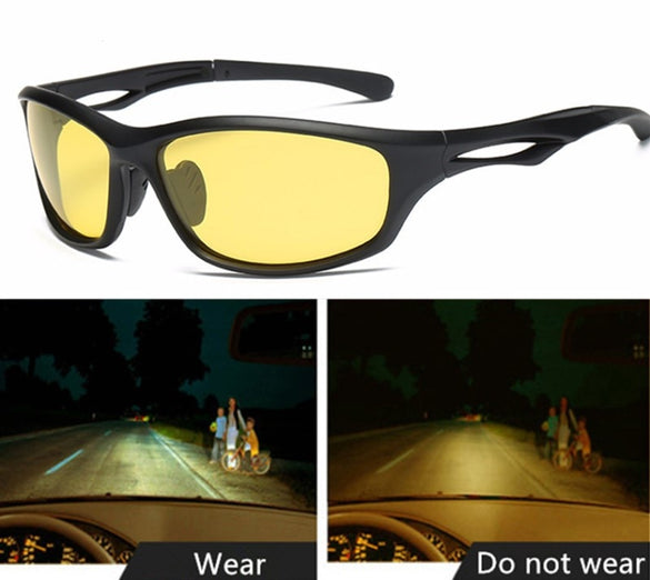 Night Glasses For Headlight Polarized Driving Sunglasses Yellow Lens UV400 Protection Eyewear for Driver Night Vision Goggles