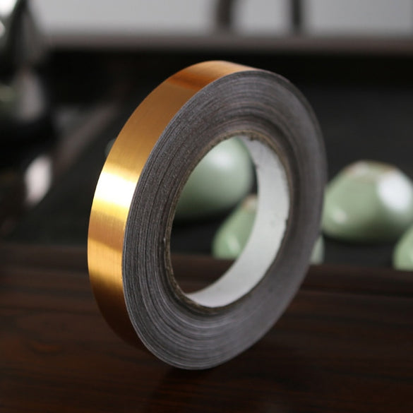 50M Silver Ceramic Tile Mildewproof Gap Tape Decor Self Adhesive Wall Floor Tape Sticker For Home Wall Decor Gold Black Tapes
