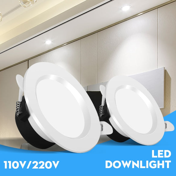 Led Downlight Recessed Spot Led Down Light Spot Lights Fixture AC85-265V 5/7/12/18W Downlights 2.5/3/4/6 Inch Home Lighting