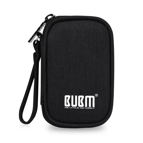 BUBM Earphone Carrying Case Holder Storage Bag USB Gadget Organizer Headphone Mini Pouch for Earbuds, Airpods, Cable, USB Drive