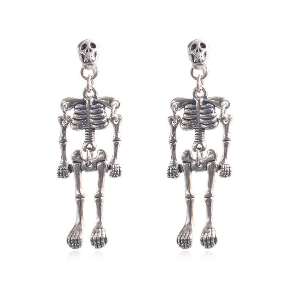 Fashion Creativity Skeleton Dangle Earrings 2020 New Design Vintage Punk Skull Robot Earring For Women Men Halloween Jewelry