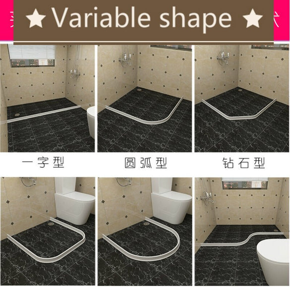 NarwalDate Bathroom Water Stopper Flood Barrier Rubber Dam Silicon Water Blocker Dry and Wet Separation Home Improve Dropshiping