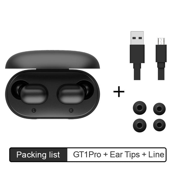 Haylou GT1 Pro Long Battery HD Stereo TWS Bluetooth Earphones, Touch Control  Wireless Headphones With Dual Mic Noise Isolation (Black)