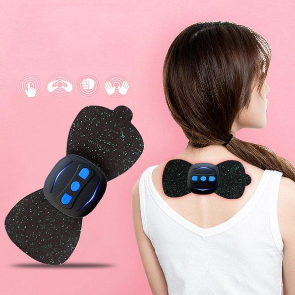 Dropshipping Portable Charging Massager Mini Massage Stickers Neck Stickers Cervical Vertebra Physiotherapy Instrument