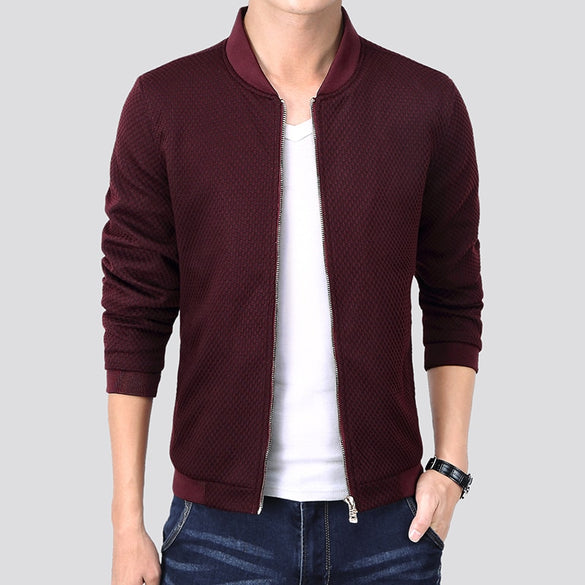 Korean Style Fashion Jacket Men Slim Fit Bomber Jackets Male Blue Black Red 2020 Spring Autumn Causal Mens Windbreaker Jackets