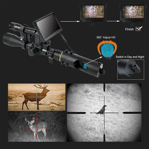 Night Vision Riflescope Hunting Scopes Optics Sight Tactical 850nm Infrared LED IR Waterproof Night Vision Hunting Camera