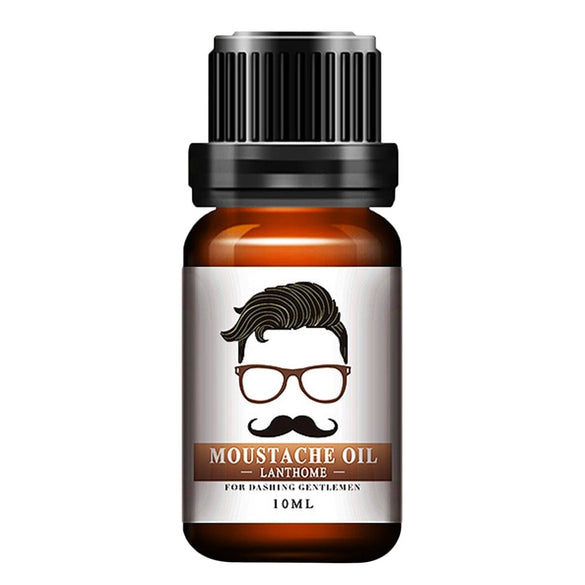 1pc Men Natural Organic Styling Moustache Oil Moisturizing Smoothing Dashing Gentlemen Beard Oil Face Hair Care Top Quality (transparent)