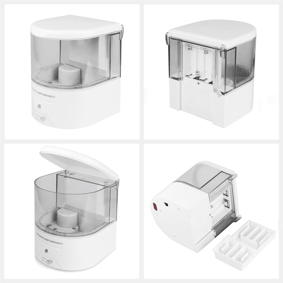White 600ml Infrared Induction Smart Liquid Soap Dispenser Sensor Touchless Automatic Soap Dispenser For Kitchen