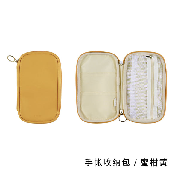 Lovely Leather Portable Pencil Bag Pencil Case Travel Passport Makeup Package Kawaii  Stationery