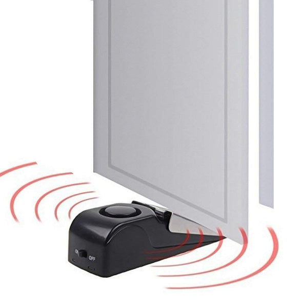 120dB Mini Wireless Vibration Alarm Door Stop Alarm for home Wedge Shaped Stopper Alert Security System Block Blocking System