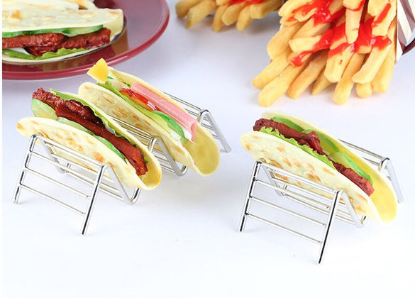 Brand New Taco Holder Taco Stand Stainless Steel Rustproof Rack Bracket Tray Style for Baking Dishwasher
