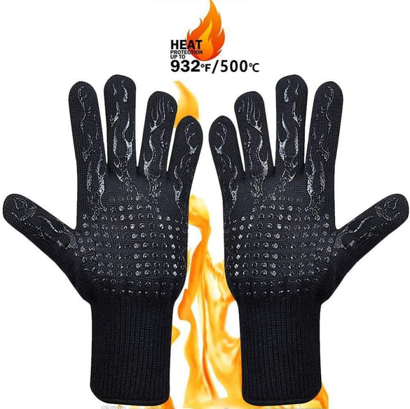 1PCS BBQ Glove 300-500 Centigrade Extreme Heat Resistant Silicone microwave kitchen Gloves Cooking Grill Oven Mitts Gloves