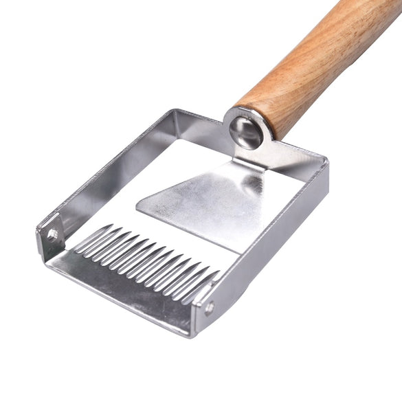 Beekeeping Cut honey Scraper shovel Beekeeper Uncapping Fork Iron Honeycomb Wooden Handle Beekeeping Tool Apicultura Equipment