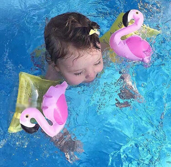 Summer 3-6 Years Children Baby Boys Floating Toy Kids Crab Flamingo Design Swimming Inflatable Swim Float Water Fun Pool Toys