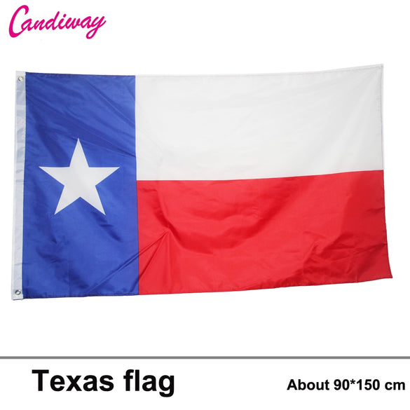 3x5 Ft Deluxe TEXAS Embroidered TX American Lone Stars USA state Flag parade/Festival/Home Decoration