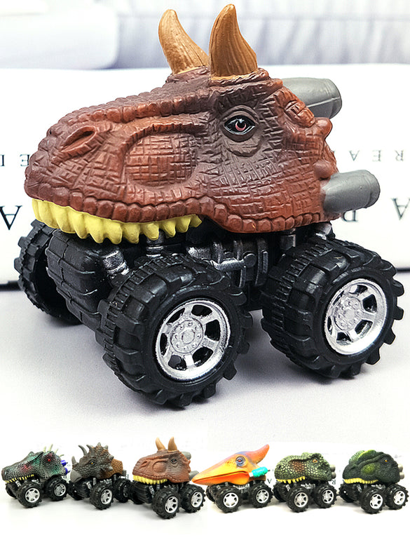 6pcs 6 styles High-quality Children's Day Gift Toy Dinosaur Model Mini Toy Car Back Of The Car Gift Truck Hobby