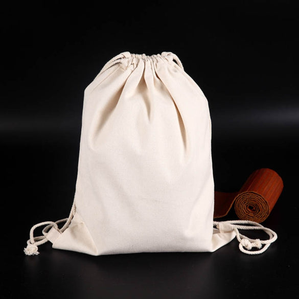 2018 Handmade Cotton Linen Storage Package Bag Drawstring Bag Small Coin Purse Travel Women Small Cloth Bag Christmas Gift pouch
