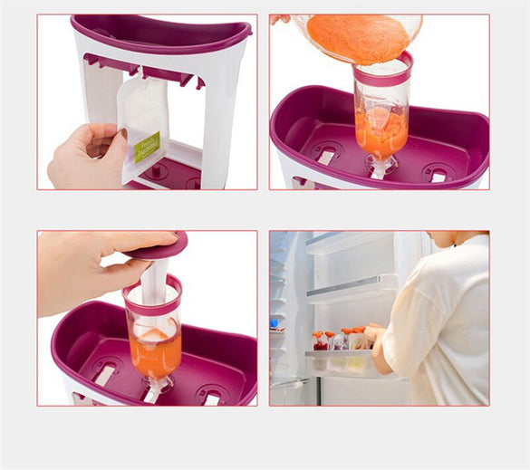 wholesale Squeeze Juice Station Baby Food Organination Storage Containers Baby Food Maker Set Fruit puree Packing machine