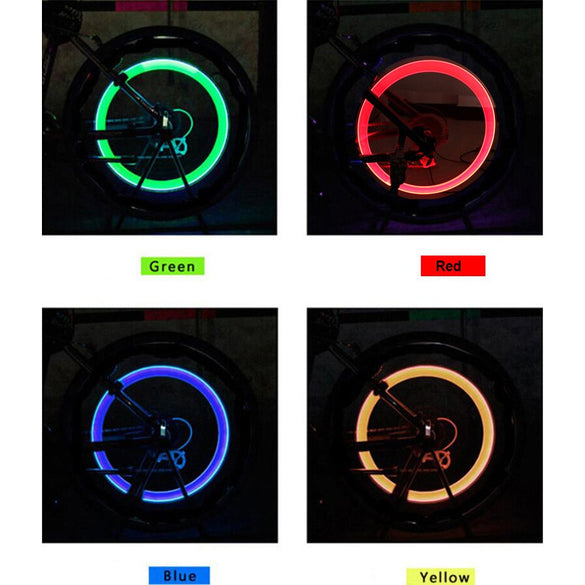 bike light with no battery mountain road bike  bicycle lights LEDS Tyre Tire Valve Caps Wheel spokes LED Light BL0157