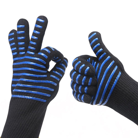 Centigrade Extreme Heat Resistant BBQ Gloves Lining Cotton For Cooking Baking Grilling Oven Mitts kitchen accessories cooking