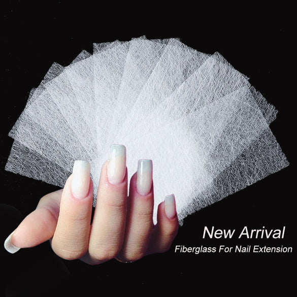 10pcs Silk Fiberglass for Nail Extension Form Non-Woven Silks UV Gel Building Fiber French Acrylic DIY Manicure Accessory CH1507
