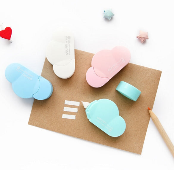 Novelty Cloud Shape White Out Corrector Correction Tape Promotional Gift Stationery Student Prize School Office Supply