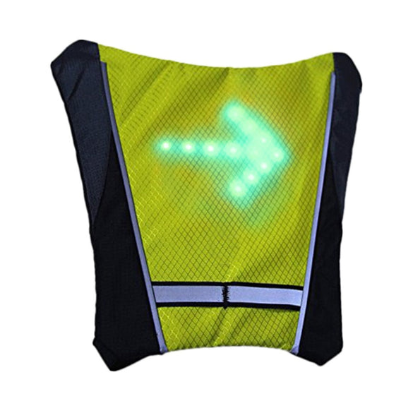 Reflective Safety Vest Cycling Waterproof 48 LED Turn Signal Vest Outdoor Running / Night Walking / Cycling Vest Coat