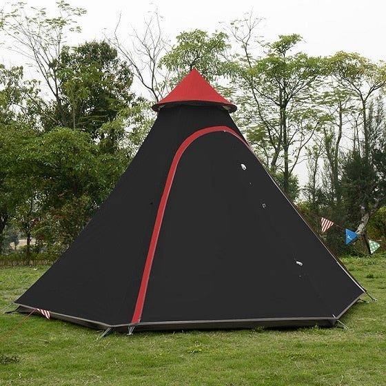 Vidalido Top grade Luxury Indian yurt tent/Large multiplayer aluminum pole outdoor camping double layer tent/A tower Mongolia
