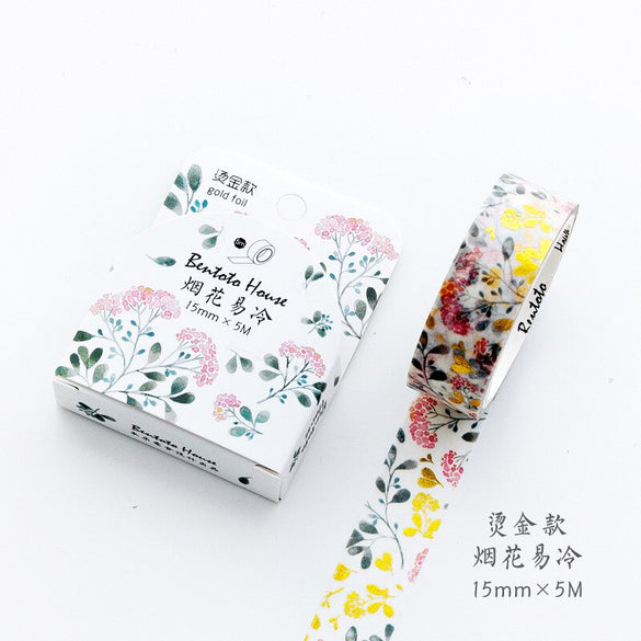 Starry sky Forest flower Unicorn laser Gilding Decorative Washi Tape Adhesive Tape DIY Scrapbooking Sticker Label Masking Tape