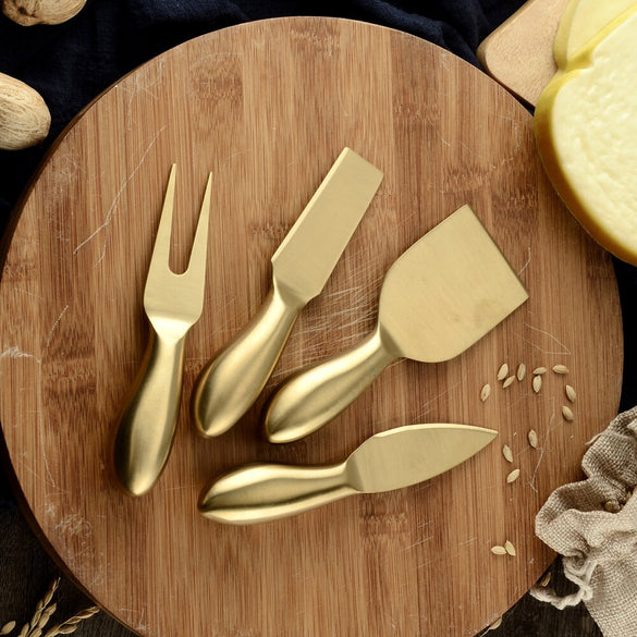 Damask Top Design 4pcs/set Cheese Cutter Knife Slicer Kit Kitchen Cheese Cutter Creative Kitchen Tools Chef Spatula Pan Cake