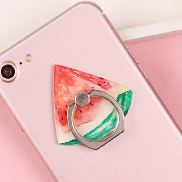 Universal Fruit Phone Holder  Clasp Mount Grip Stand Socket 360 Degree Finger Ring For IPhone X 8 7 Plus Xiaomi HTC