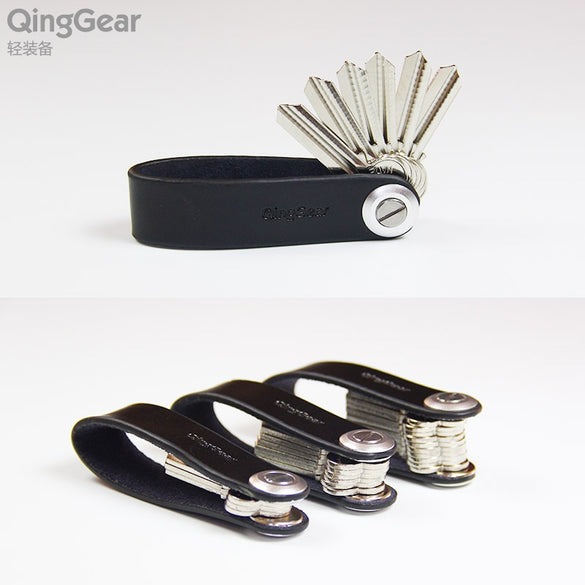 QingGear Lkey Leather Car Key Holder Handcrafted Key Organizer Travel And Practical Key Clip Tool Carry Your Keys better