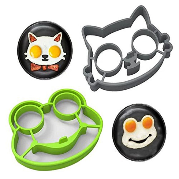 Non-stick Cute Silicone Fried Egg Molds Pancake Maker Ring Shaper Cooking Tools Kitchen Gadgets